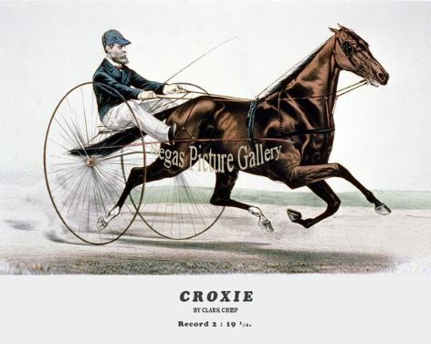 Fine art Horseracing Print of the 1800's Racing and Trotting of Croxie by Clark Chief